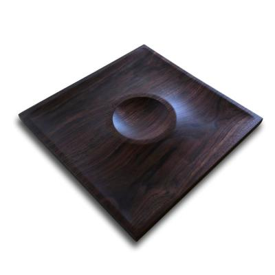 Square Walnut Chip and Dip Tray