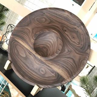 Circular Walnut Tray