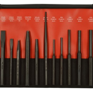 12 Piece Punch and Chisel Set Metric