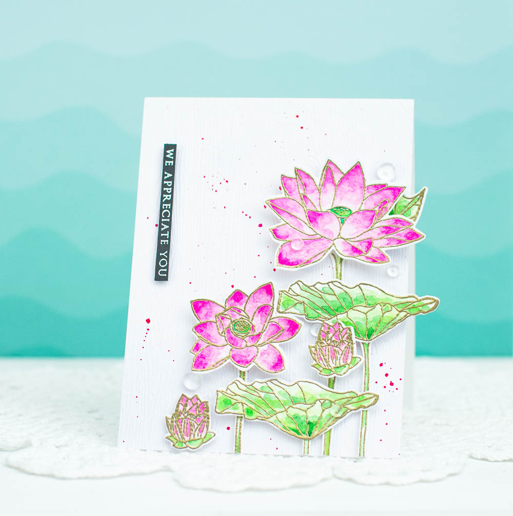 DIY Watercolor Card using Stamps and Watercoloring (How-To Video)