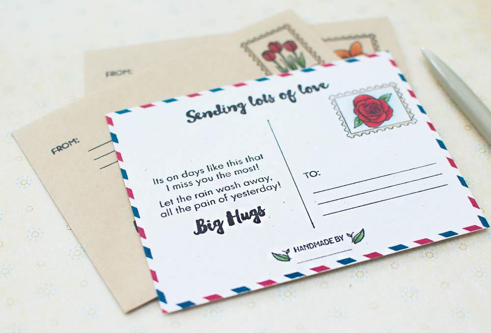 DIY Handmade Postcard Idea