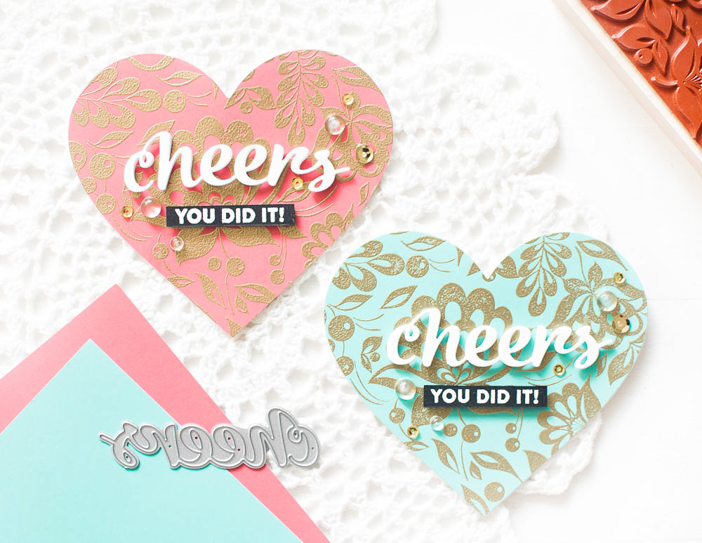 heart-shaped-cards-gold-embossed-background