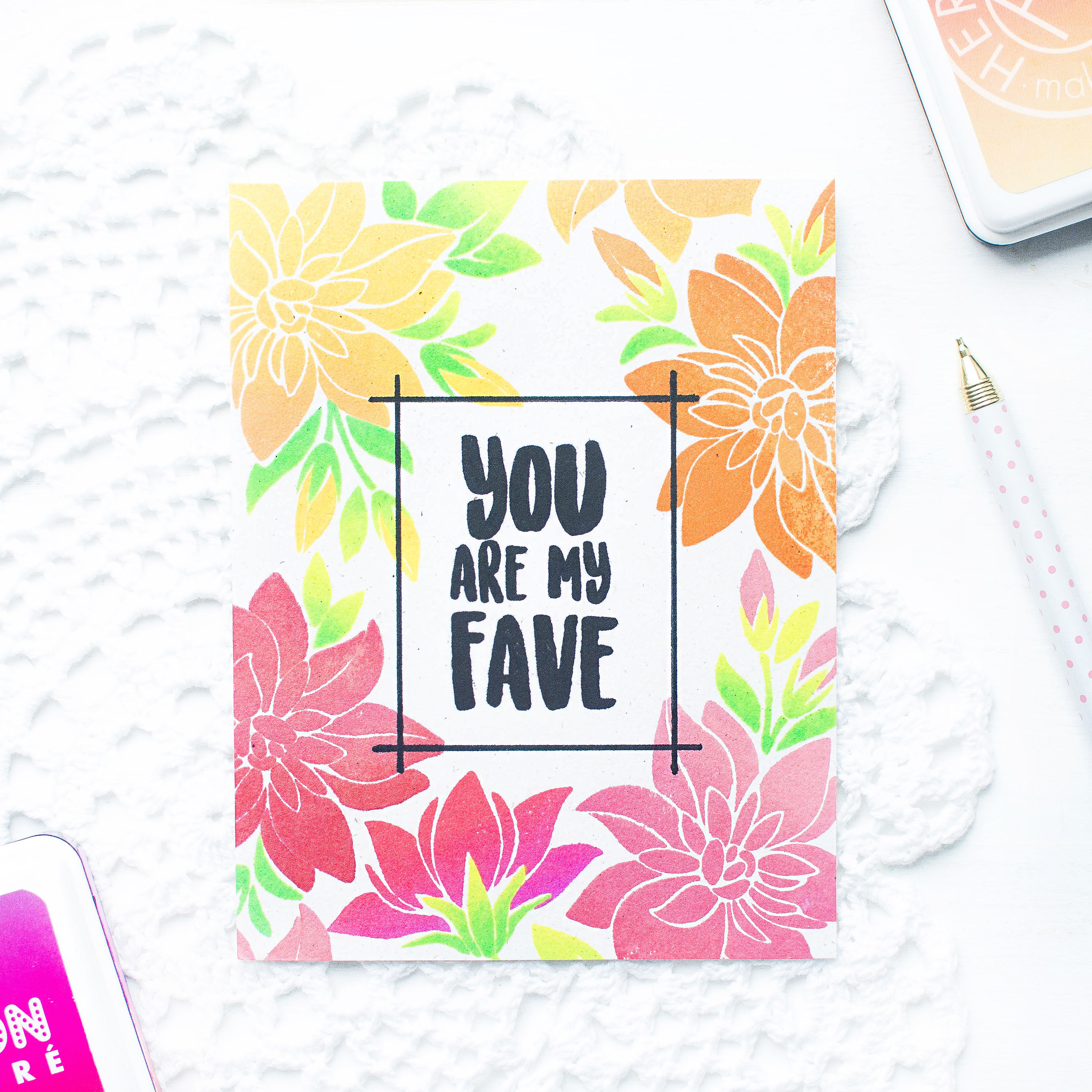 giveaway-video-one-layer-card-floral-stamped-background