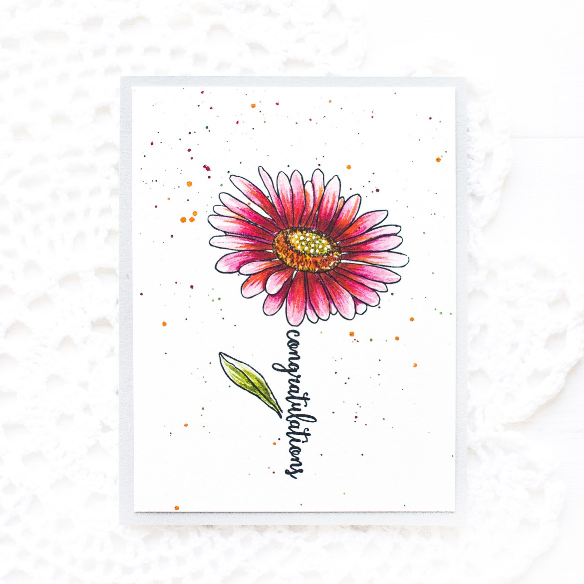 Hero Arts Watercolor Daisy Card-May Park -1