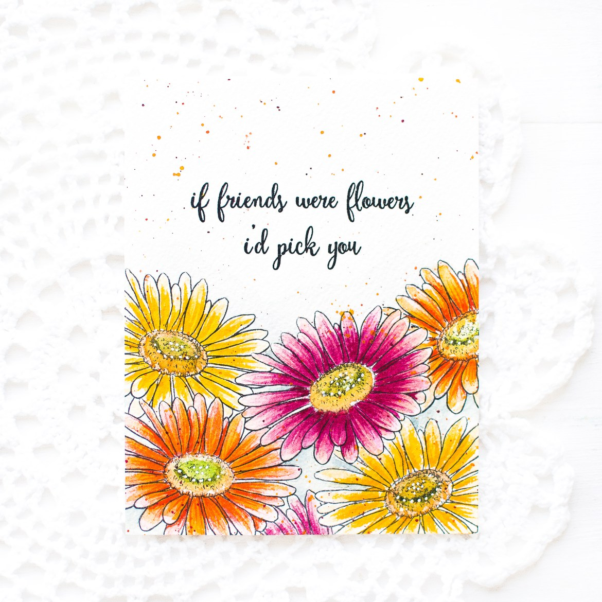 Hero Arts Watercolor Daisy Card-May Park -5