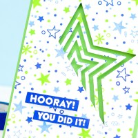 Hero Arts: Graduation Card using Stamped Background & Partial Diecutting