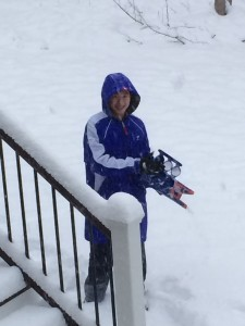 Marcus with the snowball gun