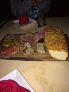 assorted charcuterie