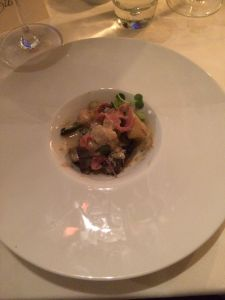 gnocchi with morel mushrooms and Virginia country ham