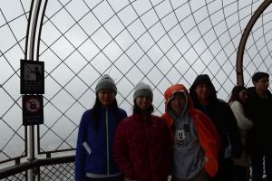 freezing at the top of the Eiffel Tower