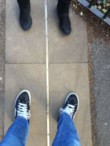 the meridian line at the Greenwich Royal Observatory