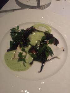 branzino with spinach