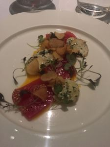 tuna tartare cured with mustard