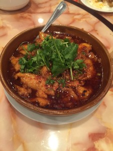 fish filets in chili oil