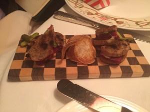 miniature veal cheek sandwiches