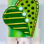 Fused Glass Decorative Green Heart Nightlight
