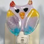 Fused glass owl nightlight