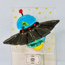 Alien Fused Glass Night Light