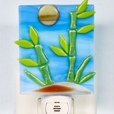 Bamboo Fused Glass Night Light