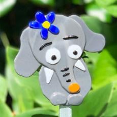 Fused Glass Elephant Grey
