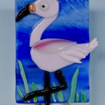 Fused Glass Pink Flamingo Nightlight