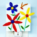 Fused Glass Flowers Nightlight