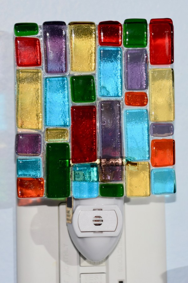 Fused Glass Colorful Nightlight