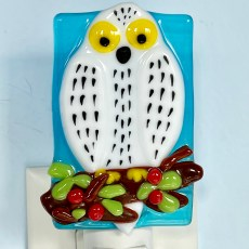 Fused Glass Owl Night Light
