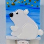 Fused Glass Polar Bear Nightlight