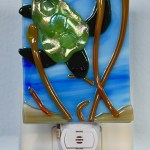 Fused Glass Green Turtle Nightlight