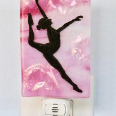 Fused Glass Dancer Night Light