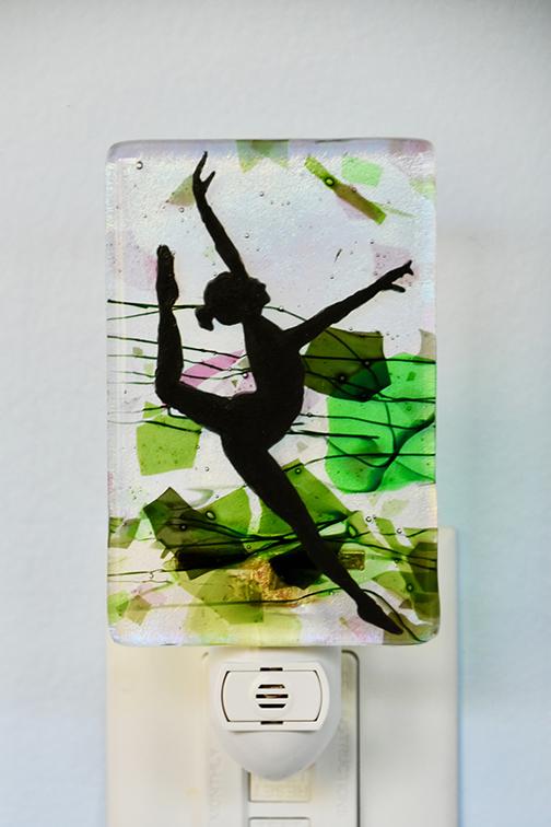 Fused Glass Dancer Nightlight