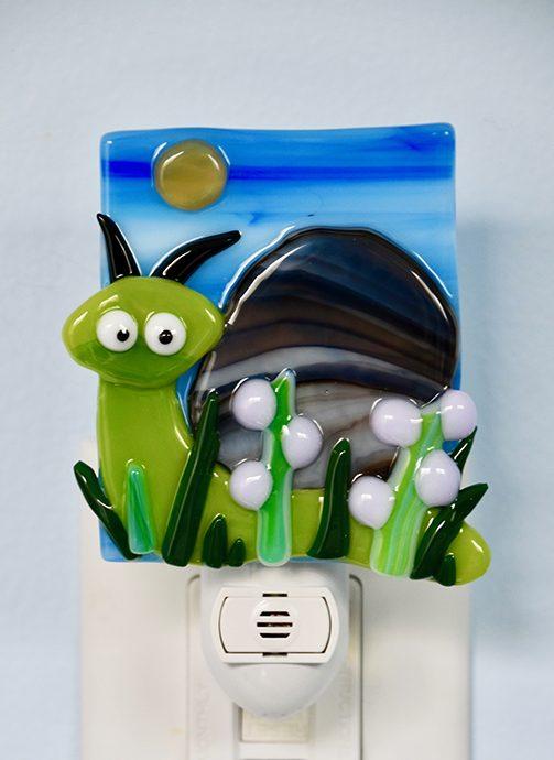 Fused Glass Snail Nightlight