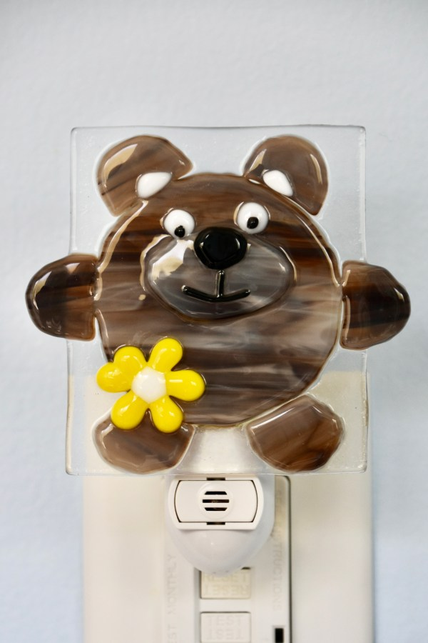 Bear Fused Glass Night Light