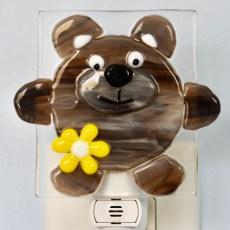 Bear Fused Glass Night Light