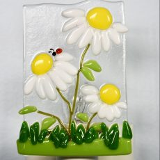 Daisies Fused Glass Night Light