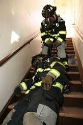 Maynard firefighters training on Rapid Intervention Team (RIT) skills in March 2015.
