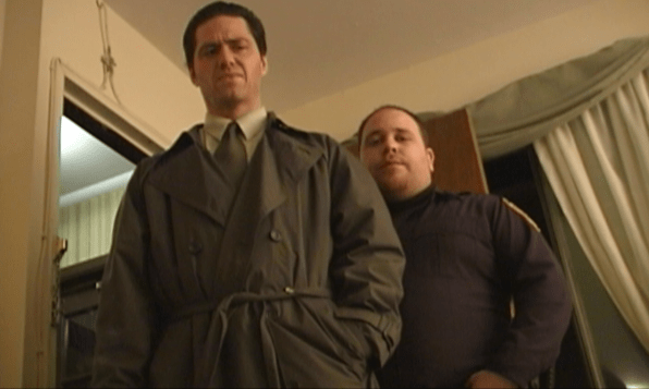 Paul Coughlan (left) and Brian Beck in 'Murder by Accusation'