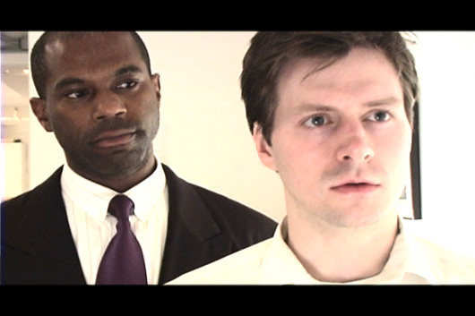 Arthur Lewis as 'Moses' and Marshall Sharer as 'John Smith' in 'Prologue'.