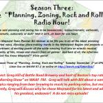 Next Town Planner Radio Show is Nov 1st