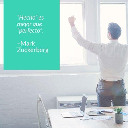 mark zuckerberg frases hecho es mejor que perfecto