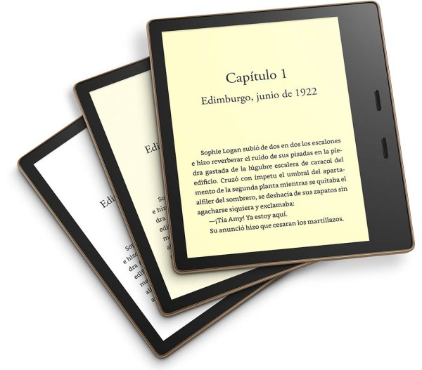 amazon kindle oasis tono luz