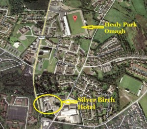 Healy Park Tyrone-map