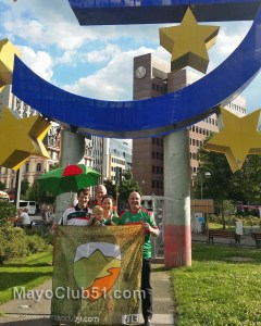 Route 51 flag at the European Central Bank in Frankfurt