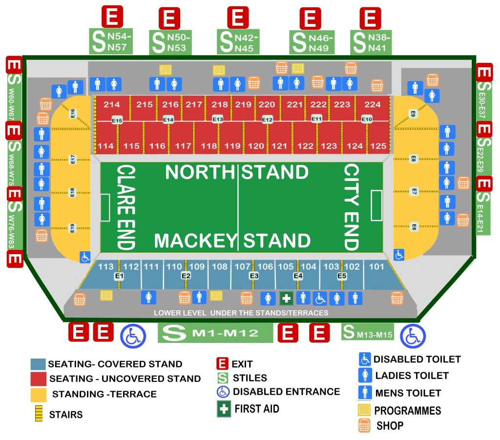 gaelic grounds limerick seating plan