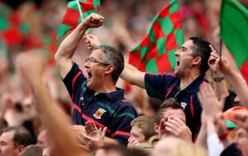 Mayo fans celebrate 25/8/2013