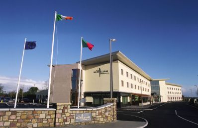 McWilliam Park Hotel with Mayo flag