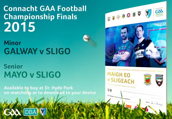 2015 Connacht final Mayo v Sligo programme cover
