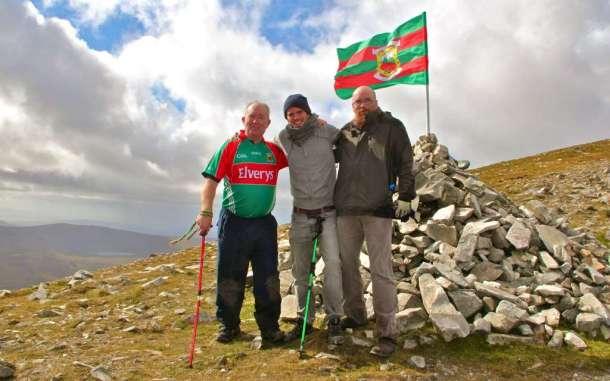 Mayo flag Mount Errigal 2012