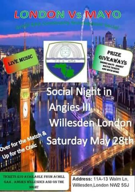 London v Mayo Achill GAA social in Angies bar Willesden